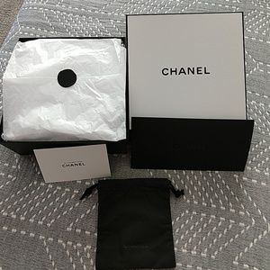 Chanel gift box complete with stuffing